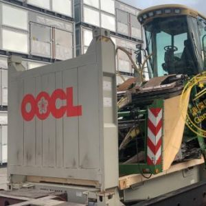 KRONE BIG X 650科罗尼青储机进口上海港海运清关手续完结